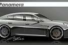 Porsche Panamera First Sketches by 9ff