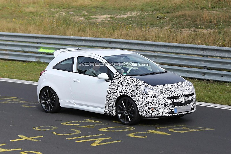 2014 Opel Corsa OPC Facelift spied sporting new front end