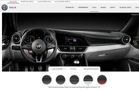 Alfa Romeo Giulia Quadrifoglio screenshot from US configurator